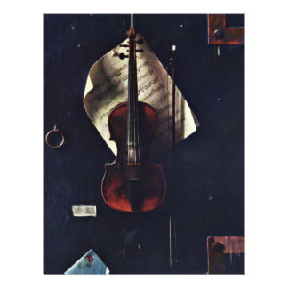 The Old Violin By Harnett William Michael Flyer