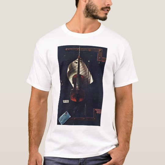 The Old Violin By Harnett William Michael T-Shirt