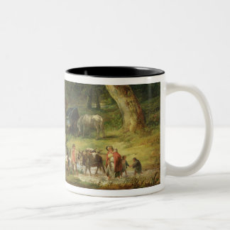 The Old Water Mill, 1790 (oil on canvas) Two-Tone Coffee Mug
