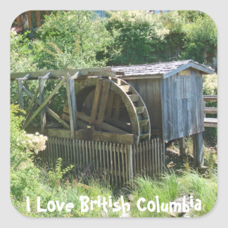 The Old Water Wheel Square Sticker