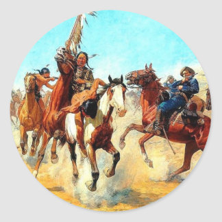 The Old West Classic Round Sticker