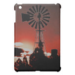 The old windmill at sunset iPad mini cover