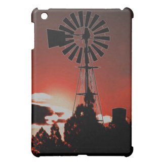 The old windmill at sunset iPad mini covers