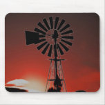 The old windmill at sunset mousepads