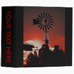 The old windmill at sunset vinyl binder