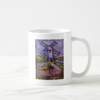 THE OLD WINDMILL CLASSIC WHITE COFFEE MUG