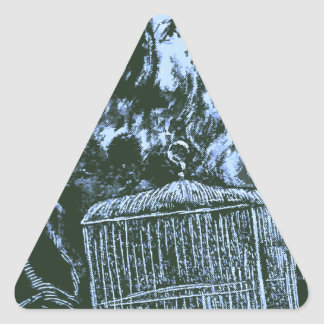 The Old Wise Man Triangle Sticker