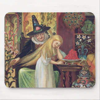The Old Witch combing Gerda s hair with a golden c Mouse Pads