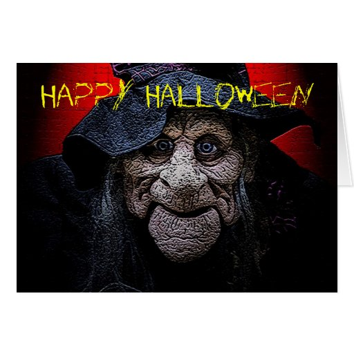 The Old Witch Halloween Card
