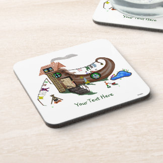 The Old Woman In The Shoe Beverage Coasters