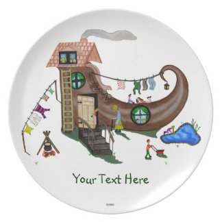The Old Woman In The Shoe Melamine Plate