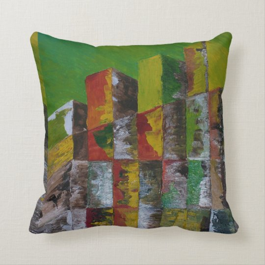 The Old Wood Pile Throw Pillow
