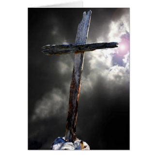The Old Wooden Cross Greeting Card