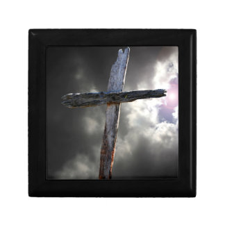 The Old Wooden Cross Keepsake Box