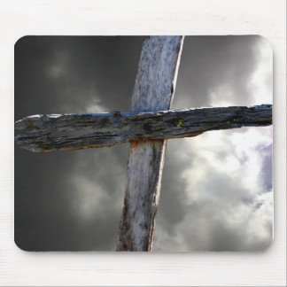The Old Wooden Cross Mouse Pad