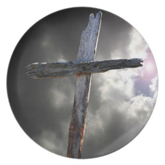 The Old Wooden Cross Plate