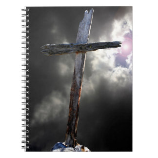 The Old Wooden Cross Spiral Notebook
