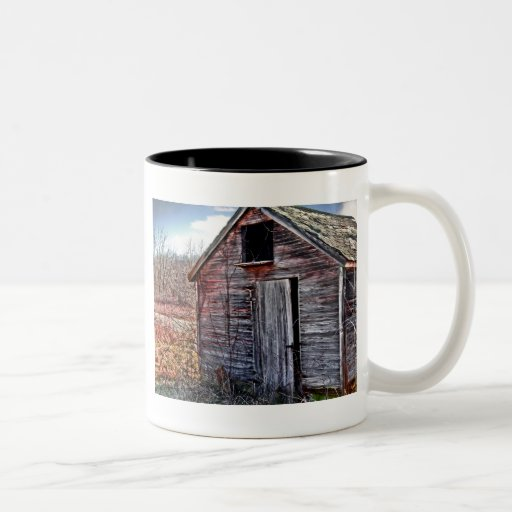 THE OLD WOODEN SHED Two-Tone COFFEE MUG