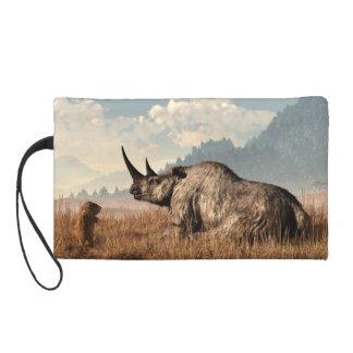 The Old Woolly Rhino Wristlet Clutch