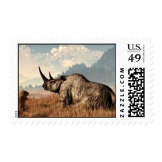 The Old Woolly Rhino Postage Stamp