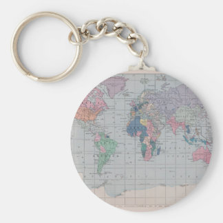 The Old World Vintage Map Collection Keychain
