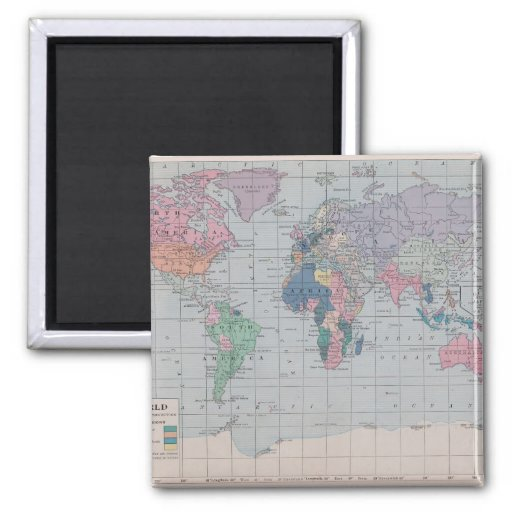 The Old World Vintage Map Collection Magnet