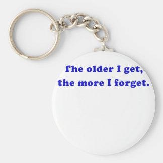 The Older I Get the More I Forget Keychains
