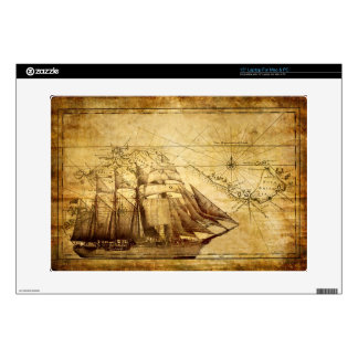 "The Oldest World Map Ship 15"" Laptop Skins"