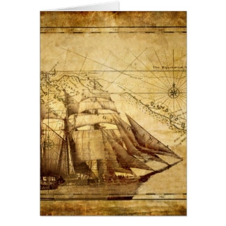 The Oldest World Map Ship Card