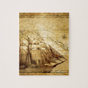 Old world map jigsaw puzzles zazzle the oldest world map ship jigsaw puzzle gumiabroncs Gallery