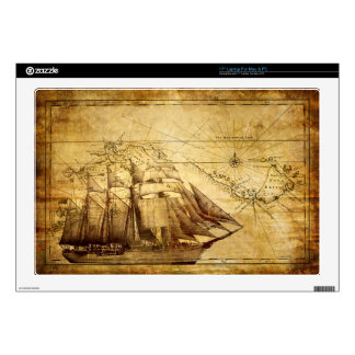 "The Oldest World Map Ship Skins For 17"" Laptops"