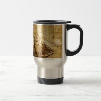 The Oldest World Map Ship Travel Mug