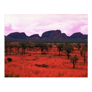 The Olgas in the distance, Australia Desert Postcard