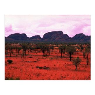 The Olgas in the distance, Australia Desert Postcard