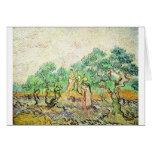 The Olive Orchard - Vincent Van Gogh (1889) Greeting Card