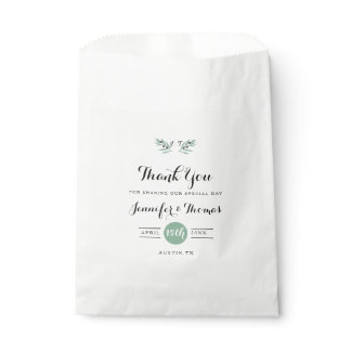 The Olive Spring Wedding Favor Bags