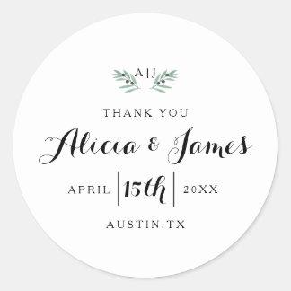 The Olive Spring Wedding Sticker