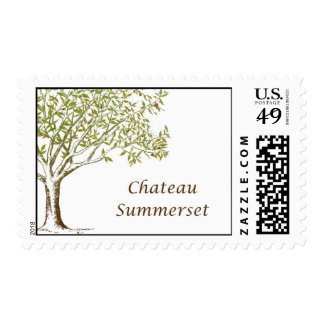 The Olive Tree Chateau Summerset Postage Stamps