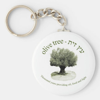 The olive tree, Thousand years providing oil, food Keychain