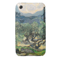 The Olive Trees,1889, by Vincent van Gogh iPhone 3 Case