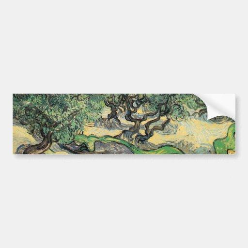 the olive trees,1889, Vincent van Gogh Bumper Sticker