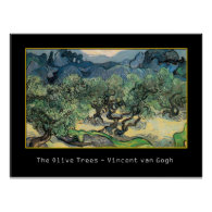 The Olive Trees,1889, Vincent van Gogh Poster