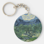 The Olive Trees by Van Gogh Keychain