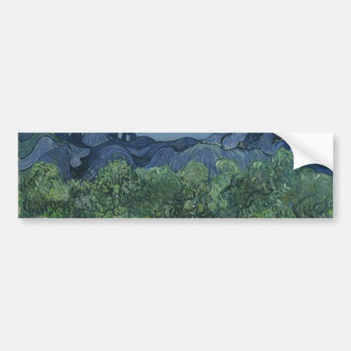 The Olive Trees by Vincent Van Gogh Bumper Stickers