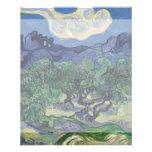The Olive Trees by Vincent Van Gogh Flyer Design