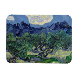 The Olive Trees by Vincent Van Gogh Magnet