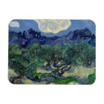 The Olive Trees by Vincent Van Gogh Rectangular Magnets