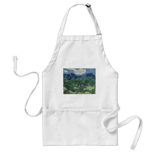 The Olive Trees - Van Gogh Adult Apron