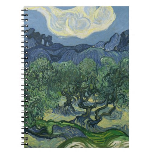 The Olive Trees - Van Gogh Spiral Note Book