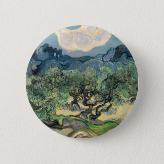 The Olive Trees, Vincent van Gogh Pinback Button